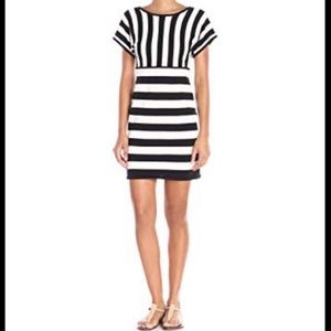 Trina Turk NWT stripe dress black white size can